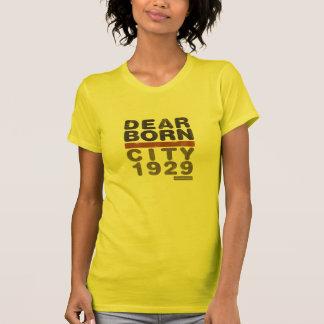 T das senhoras do desgaste da cidade de Dearborn Camiseta