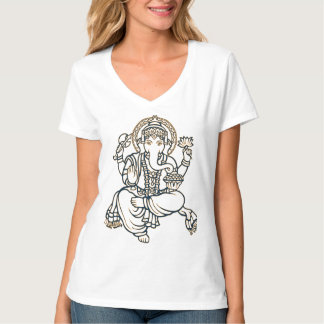 T das senhoras Ganesh Camiseta