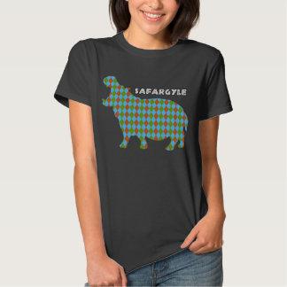 """T de Argyle do safari de """"Safargyle"""" do africano T-shirt"""