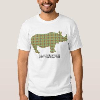 """T de Argyle do safari de """"Safargyle"""" do africano T-shirts"""
