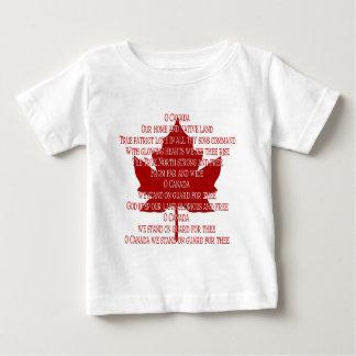T de Canadá da lembrança do t-shirt do hino de