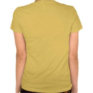 T de Tagline do pescoço da colher das senhoras Camiseta