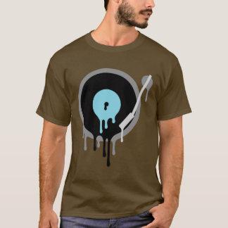 T de Turnable do vinil do DJ Camiseta