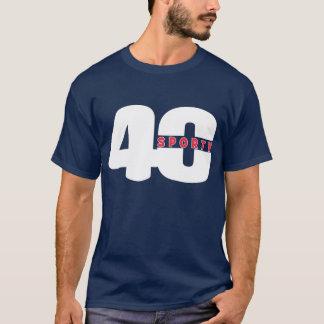 T DESPORTIVO do ANIVERSÁRIO de QUARENTA gráficos Camiseta