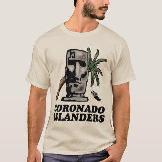 T dianteiro da trilha básica do insular/traseiro camiseta