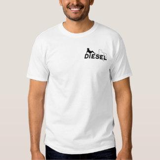 T diesel da parte traseira do homem do Mudflap Camisetas