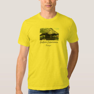 T do amarelo da experiência do safari camisetas