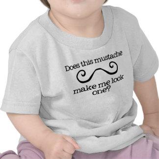 T do aniversário do homem pequeno do bigode do men camisetas