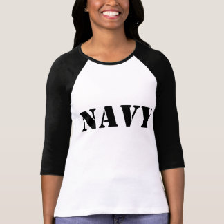 T do basebol do marinho camiseta