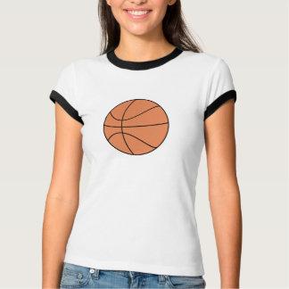 T do basquetebol do macarronete camiseta