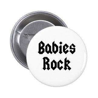 T do bebê da rocha dos bebês bóton redondo 5.08cm