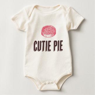 T do bebê da torta de Cutie Macacões