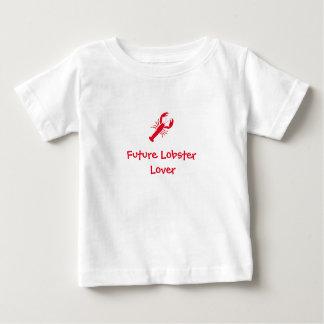 """""""T do bebê do amante futuro da lagosta"""" Camiseta Para Bebê"""