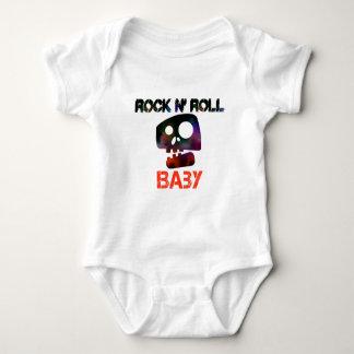 T do bebê do rolo da rocha n body para bebê