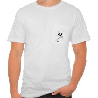 T do bolso do Tucksedeauxs da cara T-shirts