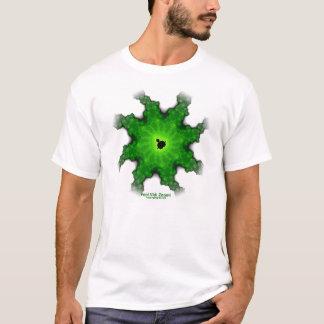 T do branco do fractal de Mandelbrot da traça Camiseta