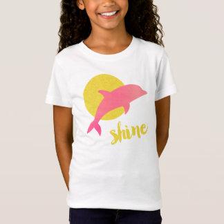 T do brilho/golfinho dos miúdos camiseta