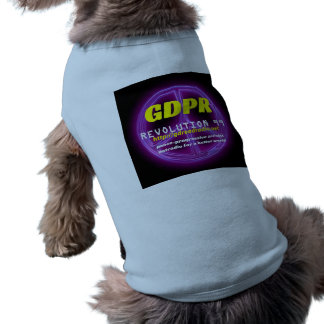 T do cachorrinho de Paxspiration GDPR Camisa Sem Mangas Para Cachorro