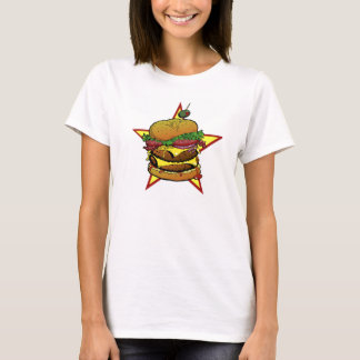 T do cheeseburger das senhoras camiseta
