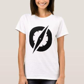 T do compasso do GlobalGen das mulheres (branco) Camiseta