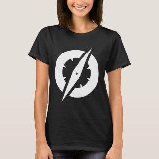 T do compasso do GlobalGen das mulheres (preto) Camiseta