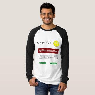 T do erro 404 camiseta
