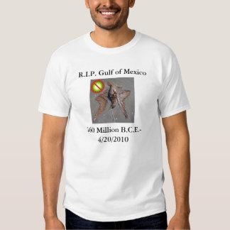T do Golfo do México do RASGO Tshirts