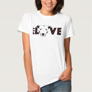 T do gráfico do ~ do amor do pitbull tshirt