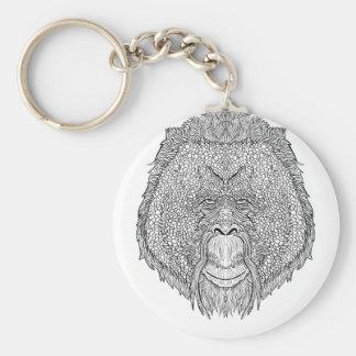 T do macaco do orangotango - coloração do estilo chaveiro