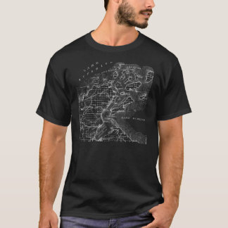 T do mapa das ilhas do apóstolo camiseta