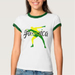 T do parafuso do Jamaica das mulheres T-shirts
