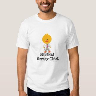 T do pescoço de grupo do pintinho da fisioterapia t-shirt