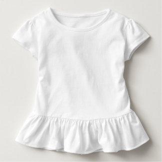 T do plissado da criança camiseta infantil