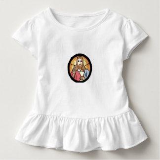 T do plissado da criança de Jesus T-shirt