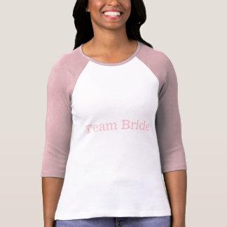 T do Raglan da noiva da equipe T-shirts