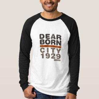 T do Raglan do LS dos homens do desgaste da cidade T-shirt