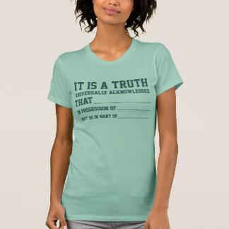 T do suficiência-em--vazio do orgulho & do preconc t-shirts