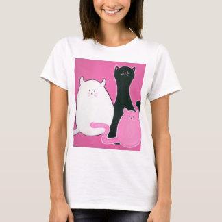 T do trio do gato camiseta