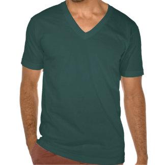 T do V-Pescoço dos homens da cruz do ferro dos E.U Camisetas
