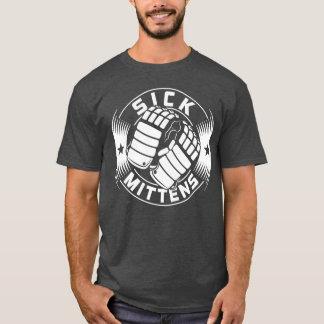 T doente do hóquei dos mitenes do impressão da camiseta
