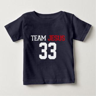 T dos AZUIS MARINHOS de JESUS 33 da equipe T-shirts