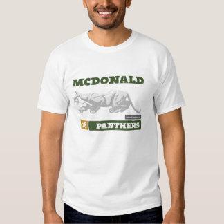 T dos homens das panteras de McDonald Tshirts