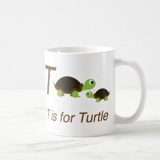 T é para a tartaruga caneca de café
