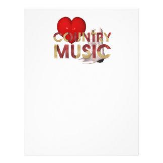 T eu amo a música country panfleto personalizados