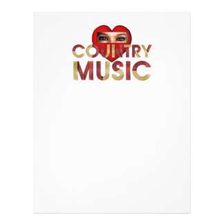 T eu amo a música country panfletos personalizados
