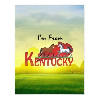 T eu sou de Kentucky Convite 10.79 X 13.97cm