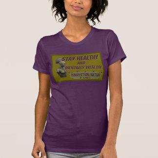 T fêmea saudável da estada da cor da beringela camisetas