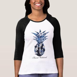 T floral do basebol das mulheres do logotipo tshirt