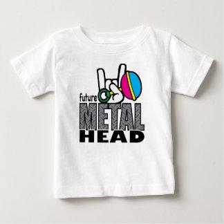 T futuro do gráfico do ~ da cabeça do metal camiseta para bebê