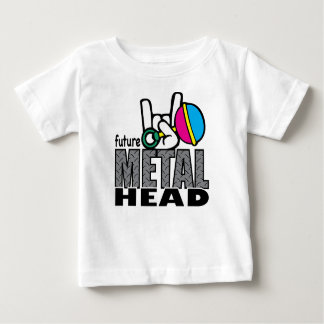 T futuro do gráfico do ~ da cabeça do metal t-shirts